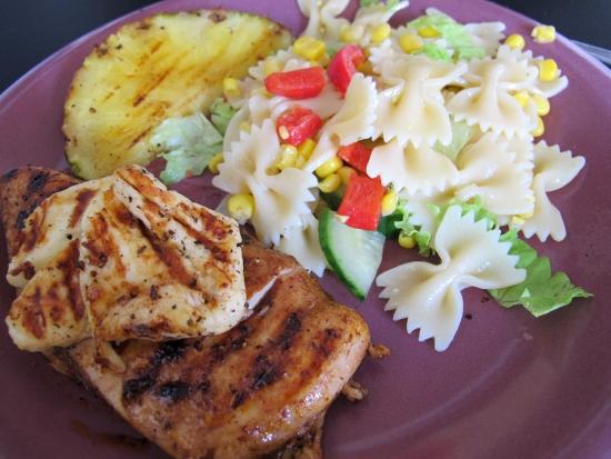 Grillad kyckling med ananas