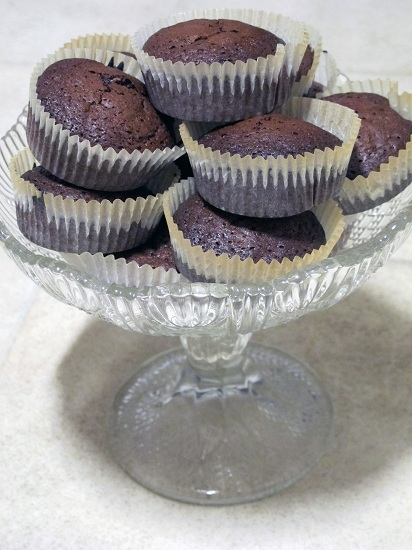 Chokladmuffins med hasselnötter