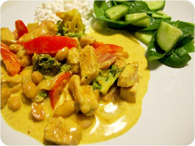 recept kycklingfile curry