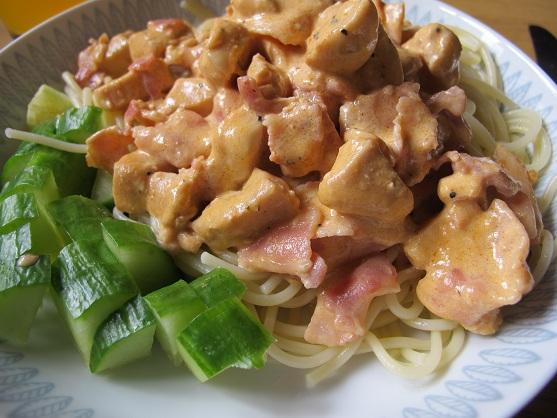 kyckling och bacongryta med champinjoner