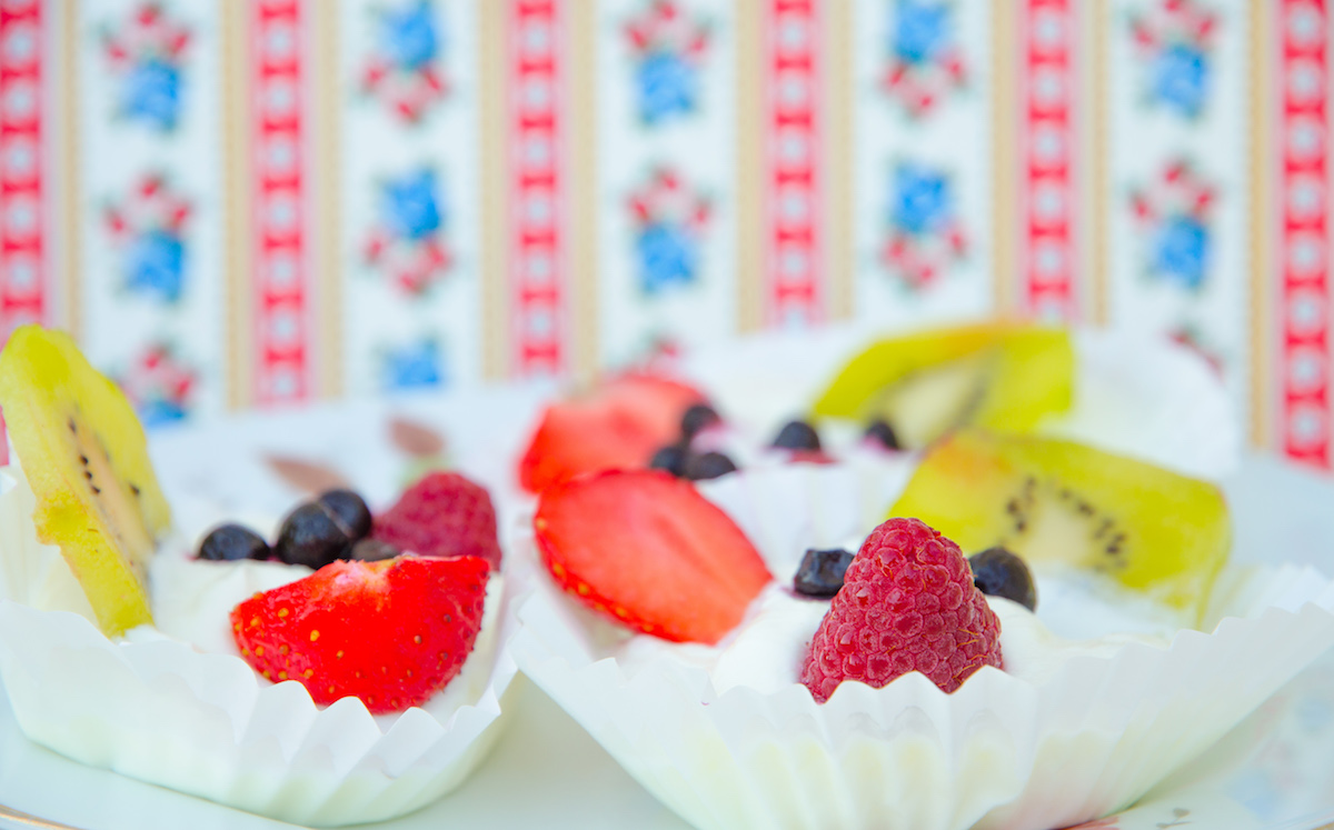 Frozen yoghurt med frukt