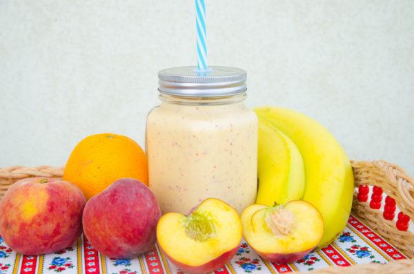 Mangosmoothie med persika