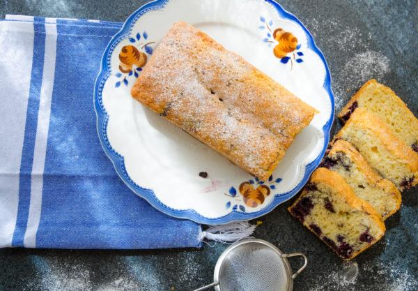 Sockerkaka med blåbär