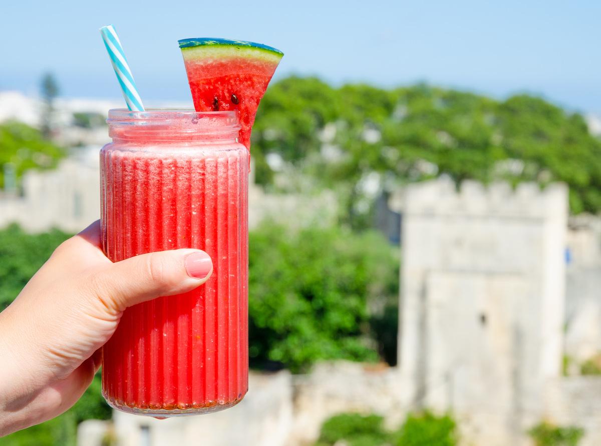 drink med vattenmelon