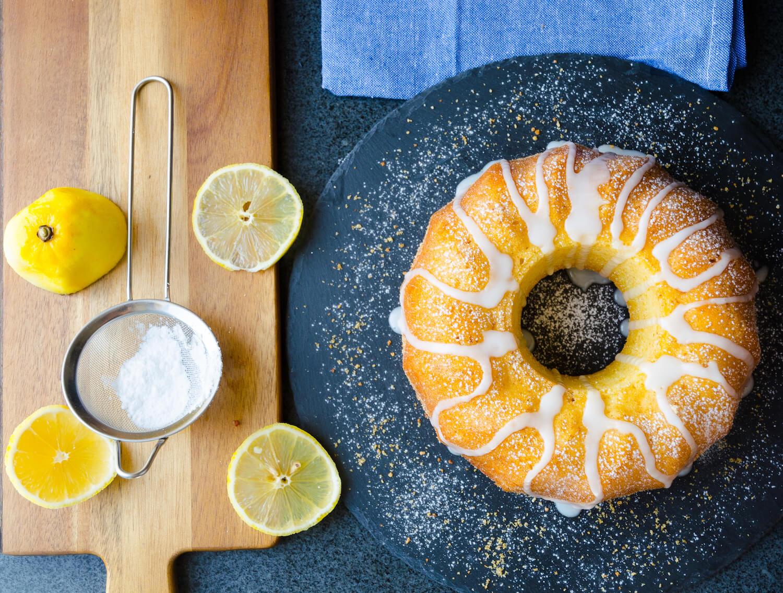 Citronsockerkaka med glasyr