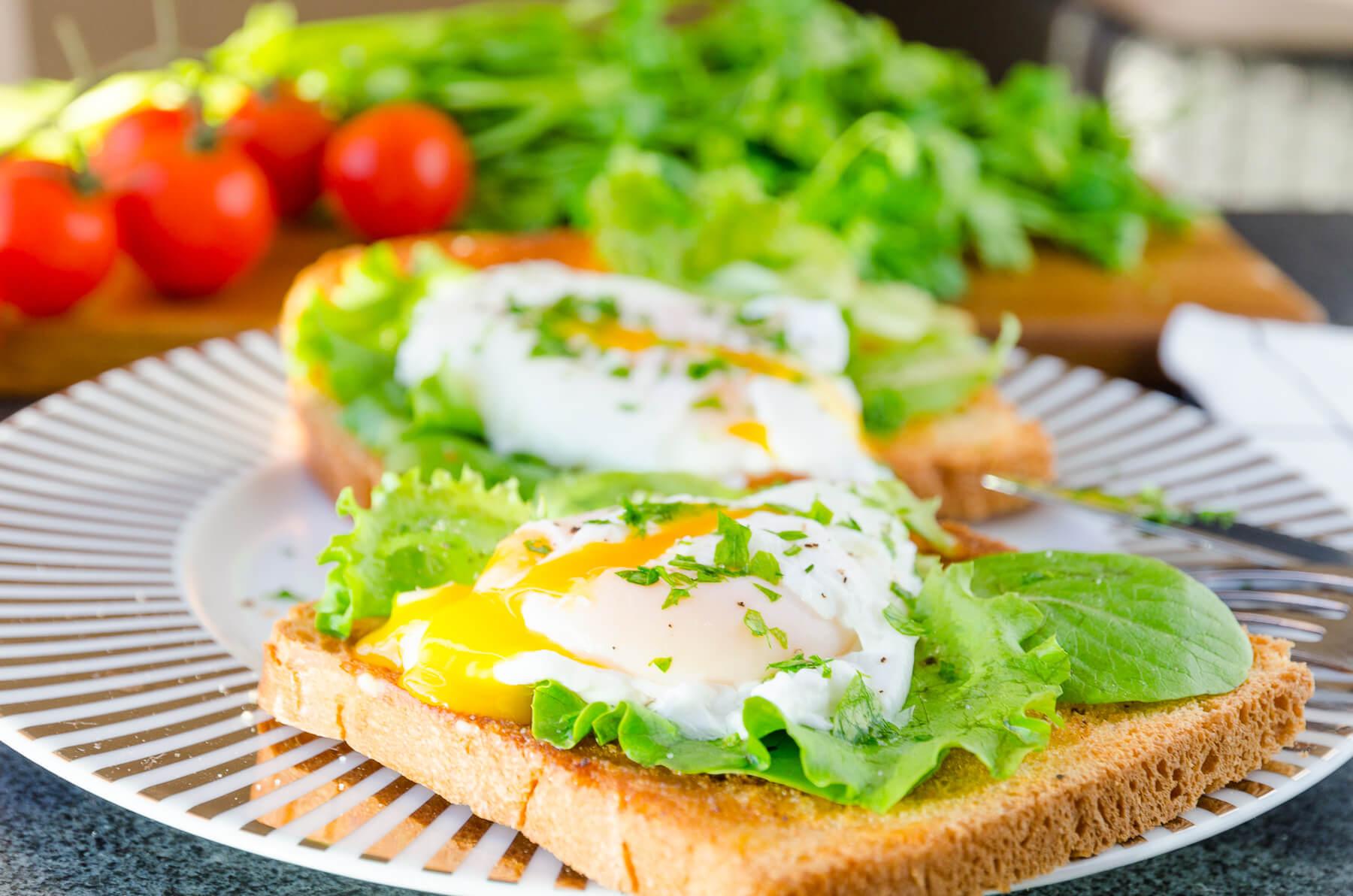 Pocherat ägg toast