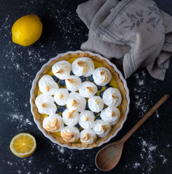 Citron & blåbärspaj med maräng